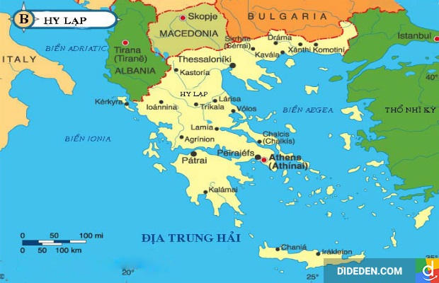 Chuyển phát nhanh đi Hy Lạp